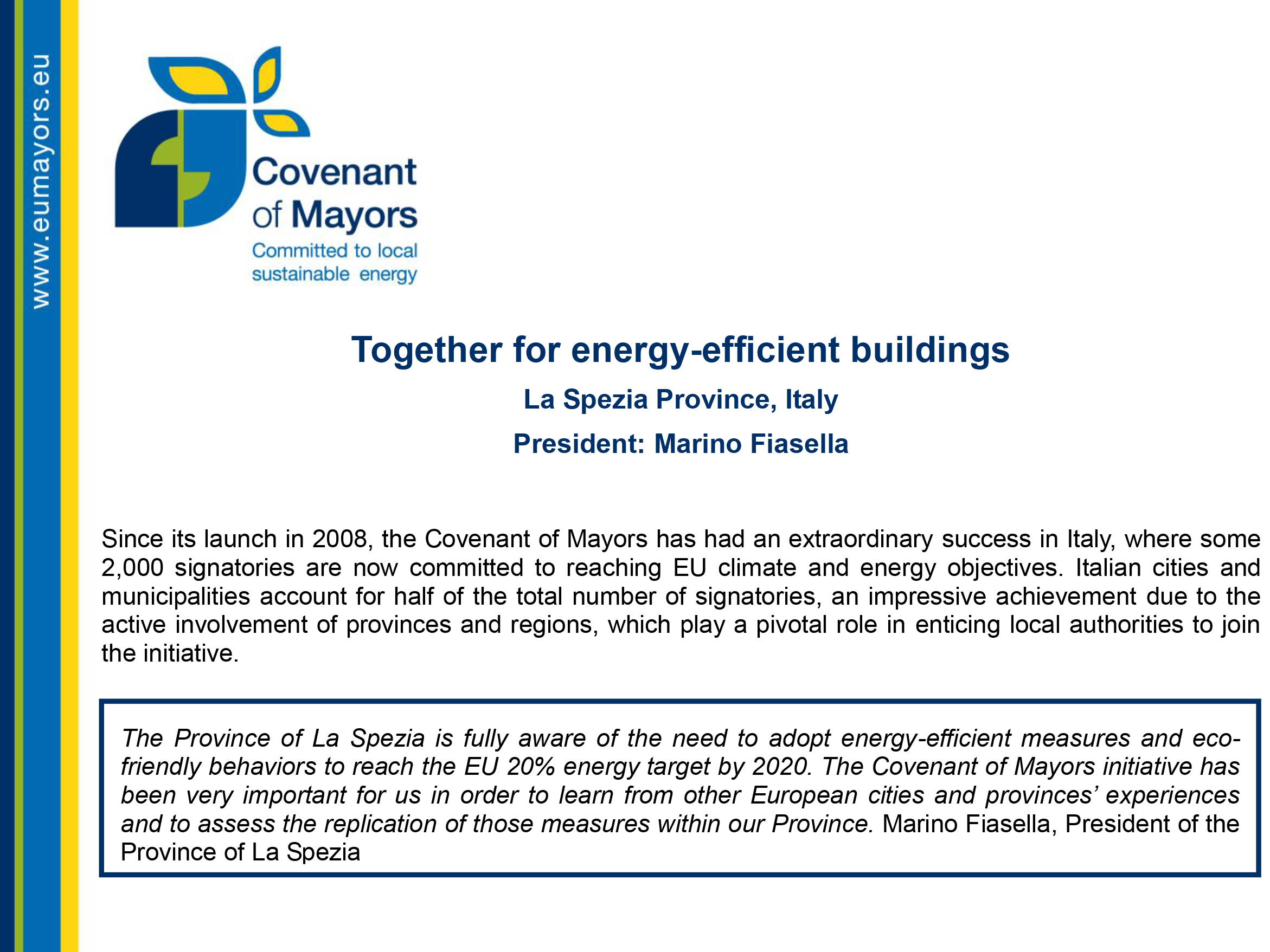 together for energy-efficient buildings